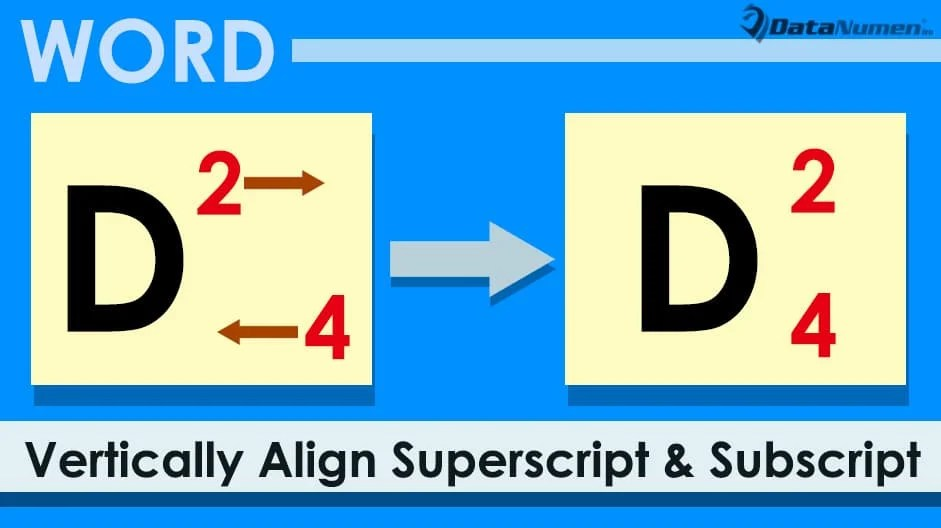 5 Ways to Vertically Align Superscript and Subscript in the Same