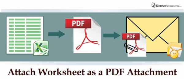 Attach an Excel Worksheet as a PDF Attachment in Your Outlook Email