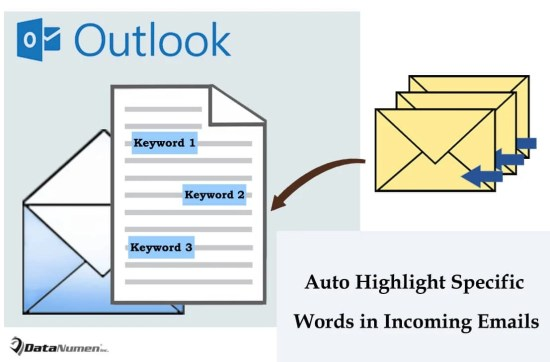 Auto Highlight All Occurrences of Specific Words for Each Incoming Email in Outlook