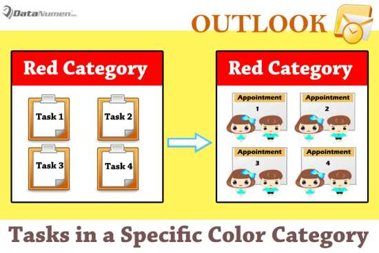 Convert All Tasks in a Specific Color Category to Appointments in Outlook