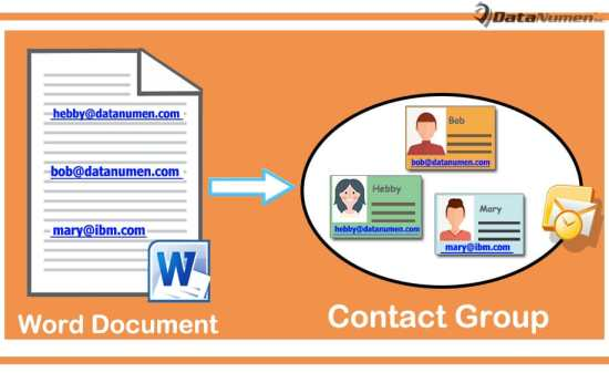 Quickly Create an Outlook Contact Group from All Email Addresses Occurring in a Word Document