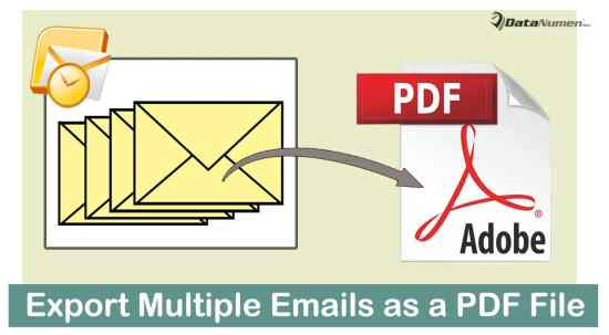 Quickly Export Multiple Outlook Emails as a Single PDF File
