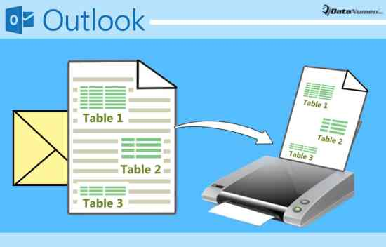 Quickly Print All Tables in Your Outlook Email