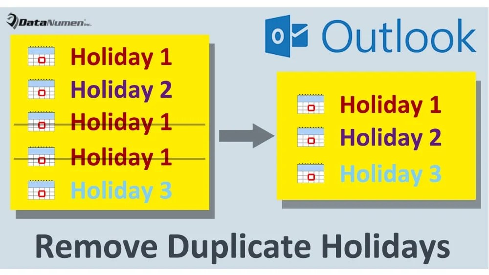 2 Means to Quickly Remove Duplicate Holidays in Your Outlook