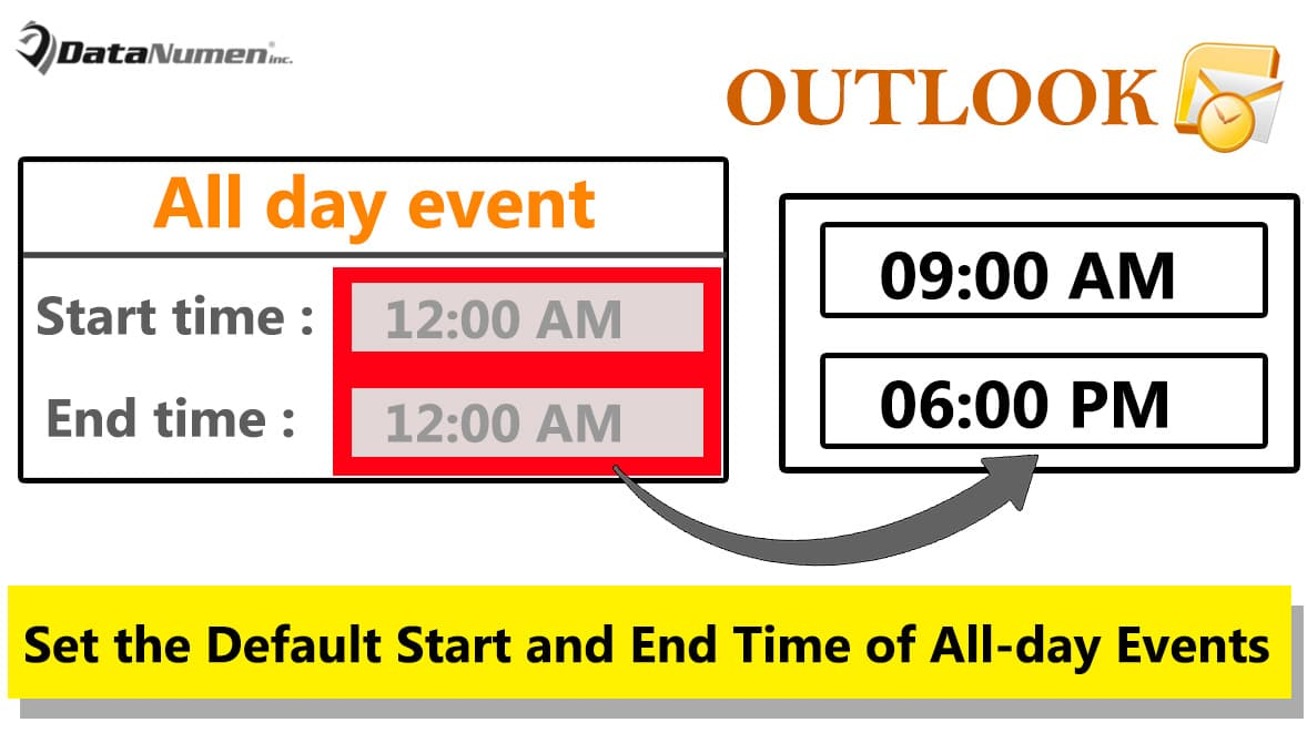How to Set the Default Start and End Time of All-day Events