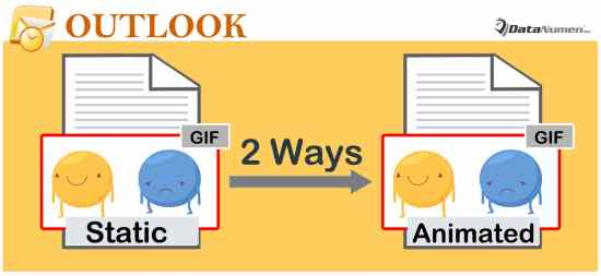 View All Embedded Animated Gif Images of an Outlook Email in Animated Form