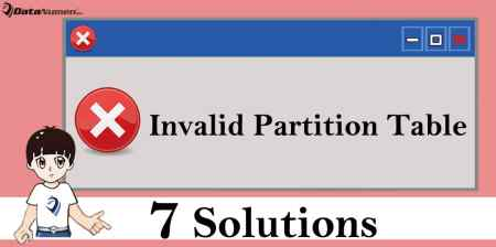 """7 Solutions to """"Invalid Partition Table"""" Error on Windows"""