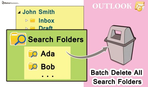 Batch Delete All Search Folders in Your Outlook