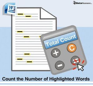 Count the Number of Highlighted Words in Your Word Document