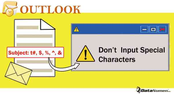 Get Warned when Trying to Input Special Characters in Outlook Email Subject