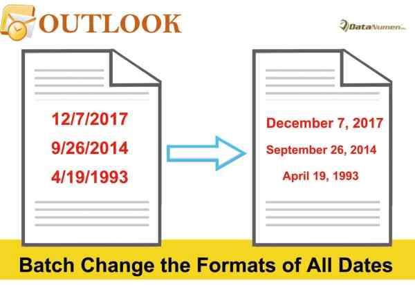 Batch Change the Formats of All Dates in Your Outlook Email