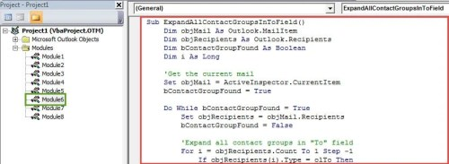 "VBA Code - Batch Expand All Contact Groups in ""To"" Field"