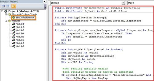 VBA Code - Auto Open All Embedded Hyperlinks when Reading Specific Emails