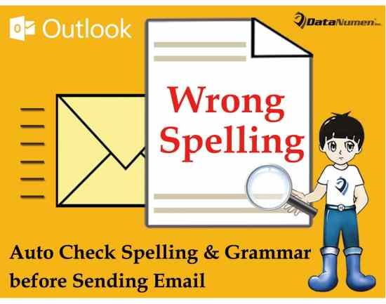 Auto Check Spelling and Grammar before Sending an Outlook Email