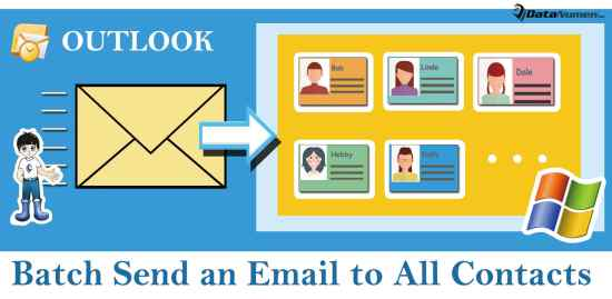 Batch Send an Outlook Email to All Contacts Stored in a Windows Folder