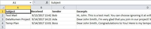 Exported Emails