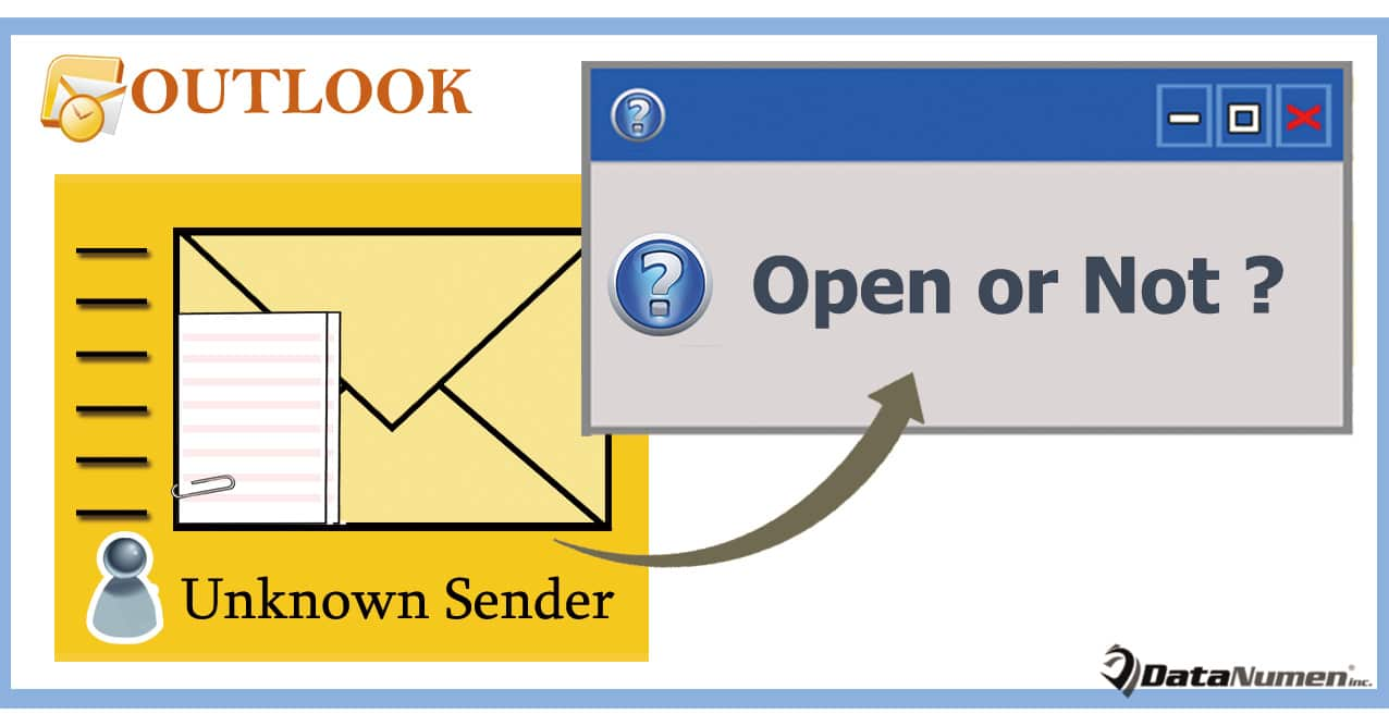 Get Warned before Opening Emails Attachments from Unknown Senders in Outlook