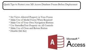 Protecting Your MS Access Database Forms Before Deployment