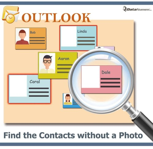 Quickly Find the Contacts without a Photo in Your Outlook