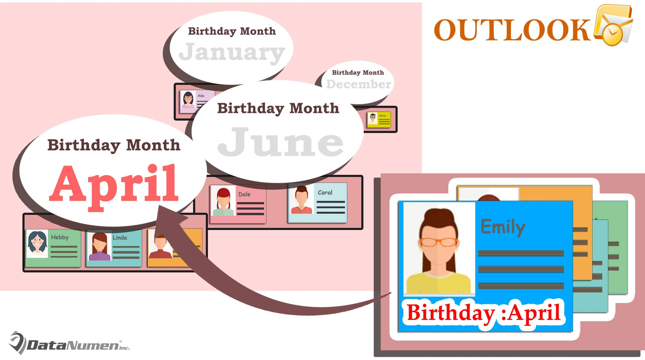 How to Quickly Group Outlook Contacts by Birthday Month in List View