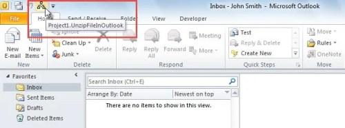 Run Macro through Quick Access Toolbar