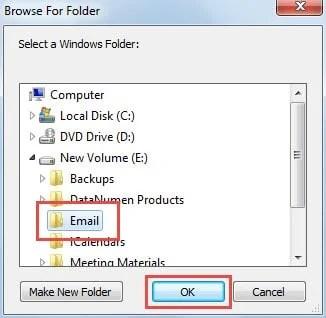 Select a Windows Folder