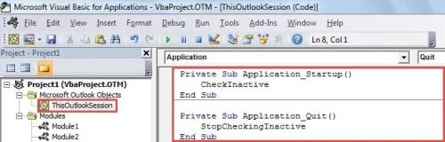 VBA Code - Activate the Macro