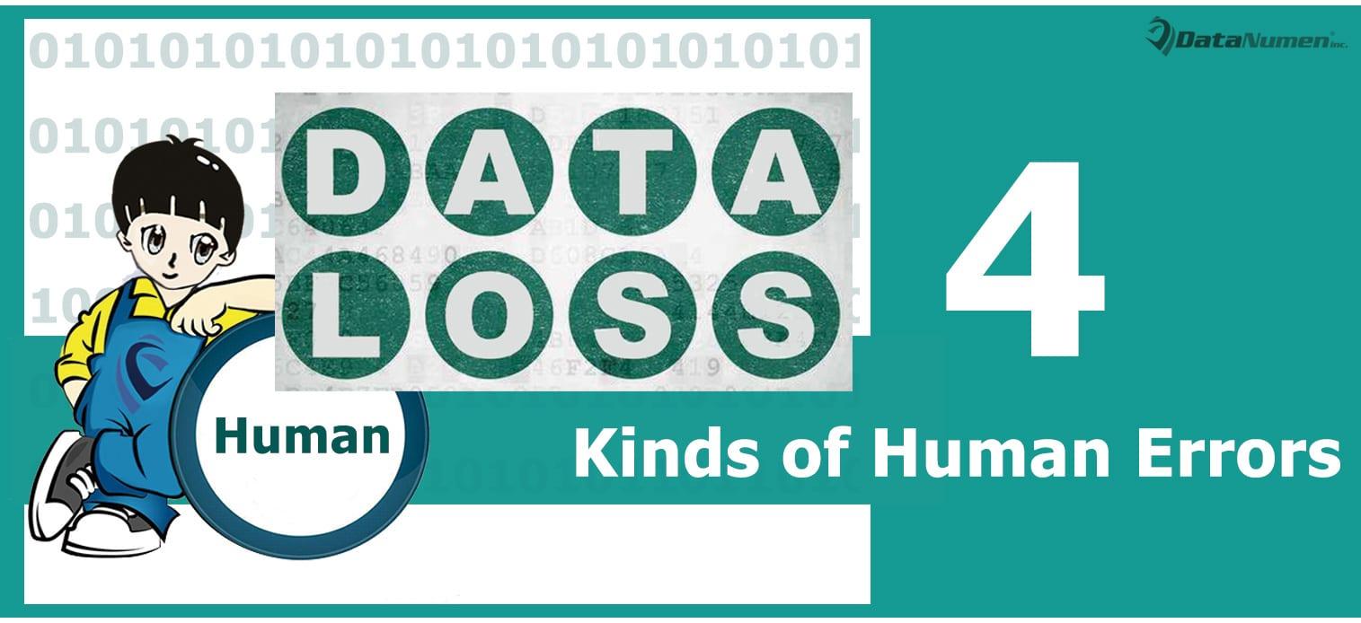 4 Main Kinds of Human Errors Causing Data Losses