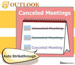 Auto Strikethrough Canceled Meetings in List View