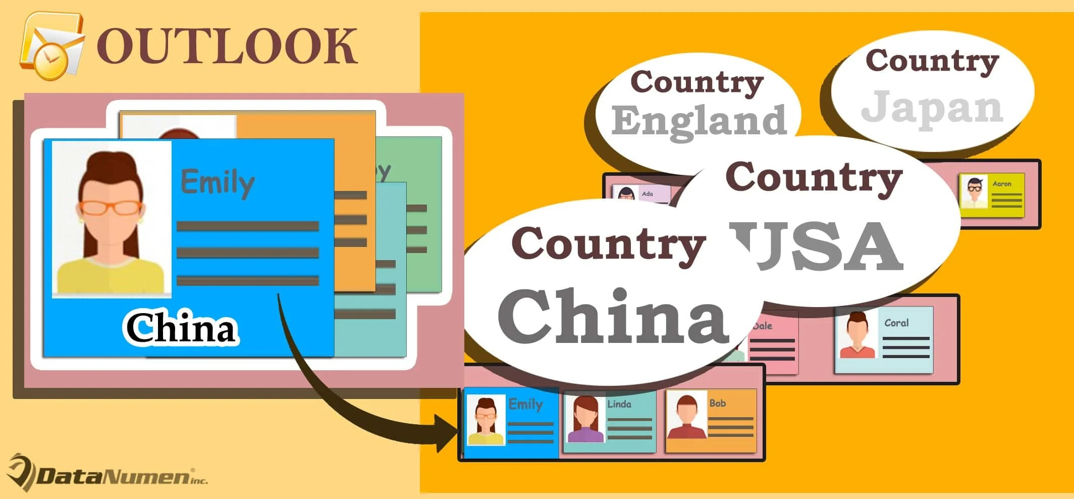 Quickly Group All Outlook Contacts by Country in List View