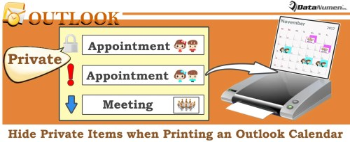 Hide Private Items when Printing an Outlook Calendar