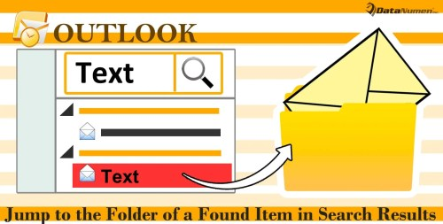 Quickly Jump to the Folder of a Found Item in Search Results via Outlook VBA