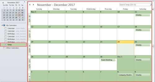 New Temp Calendar