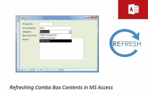 How to Refresh Combo Box Contents in MS Access - Data Recovery Blog