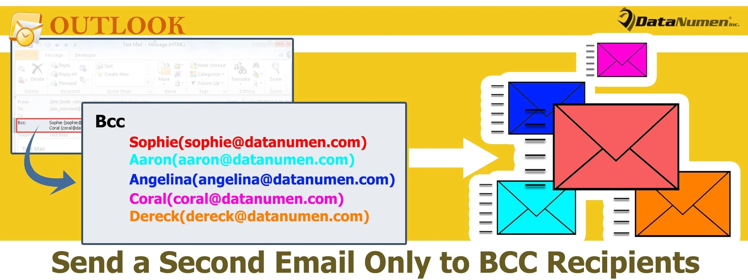 Send a Second Email Only to the BCC Recipients of an Outlook Email