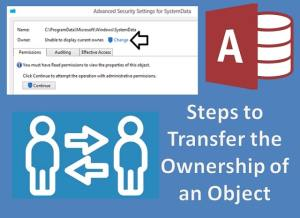 Steps To Transfer The Ownership Of An Object