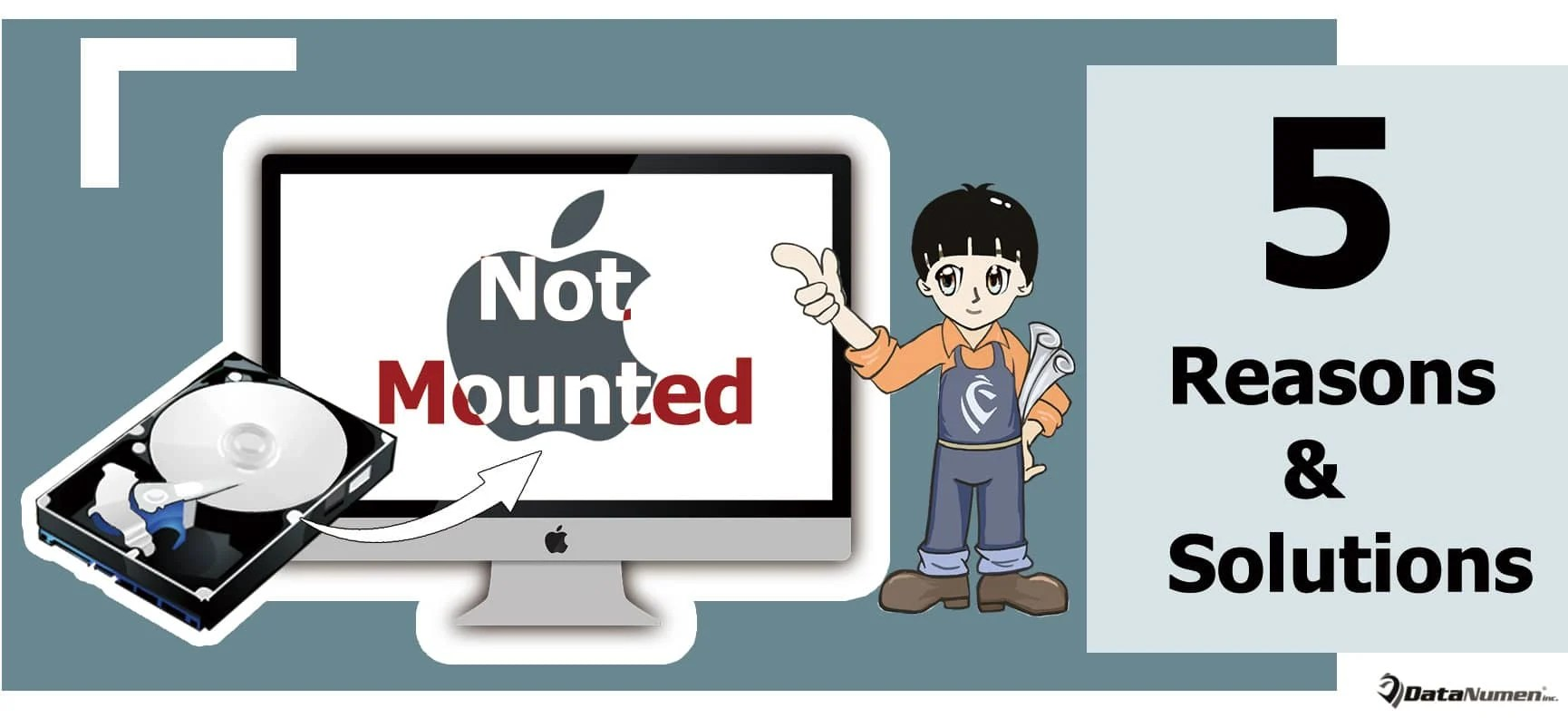 5 Top Reasons & Solutions when Mac Fails to Mount a Hard Drive