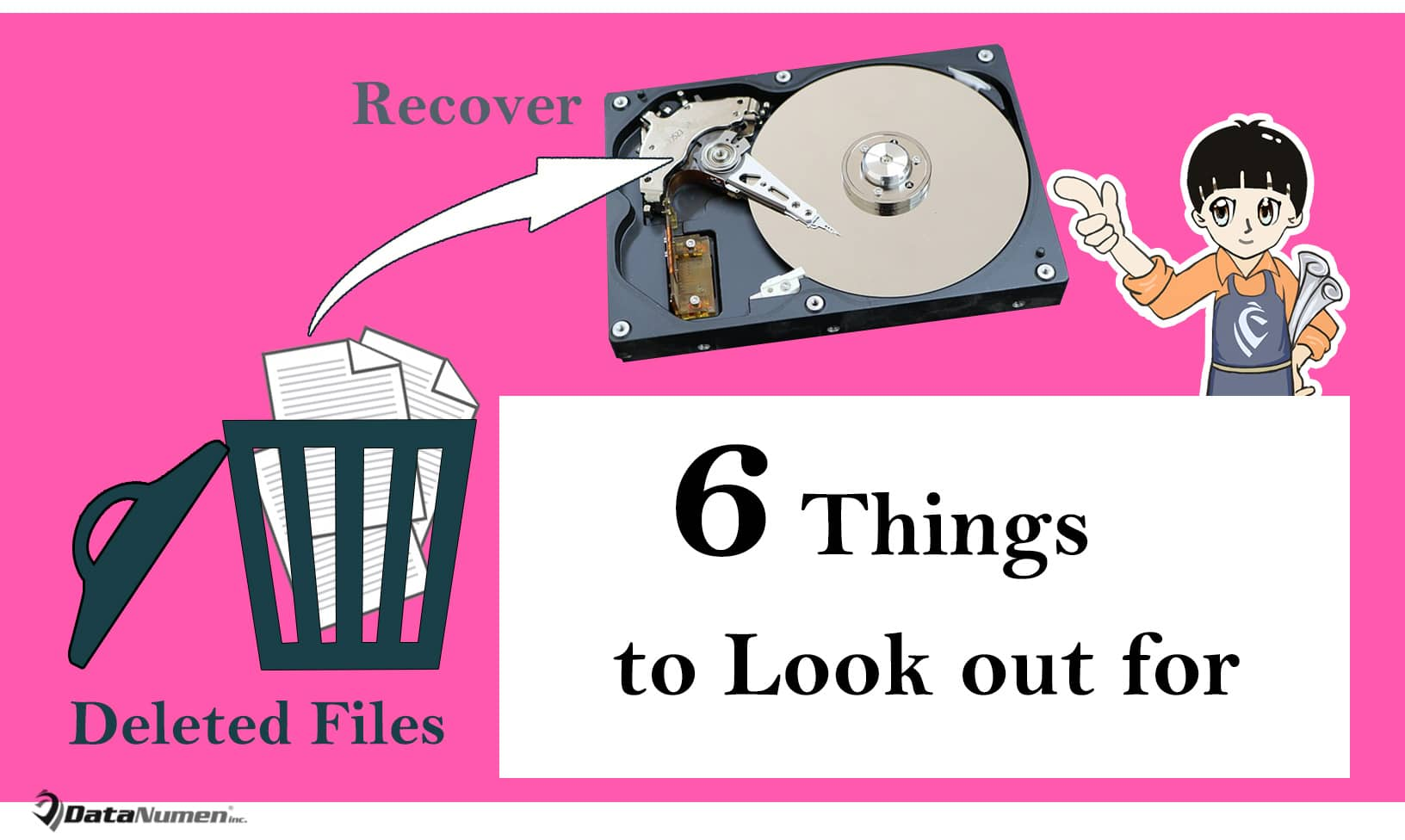 6 Things You Must Look out for when Recovering Deleted Files in Hard Drive