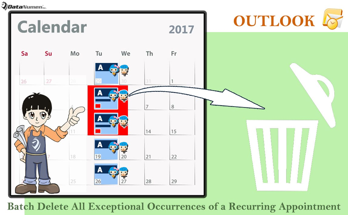 Batch Delete All Exceptional Occurrences of a Recurring Outlook Appointment