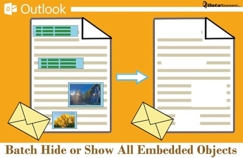 Batch Hide or Show All Embedded Objects in Your Outlook Email