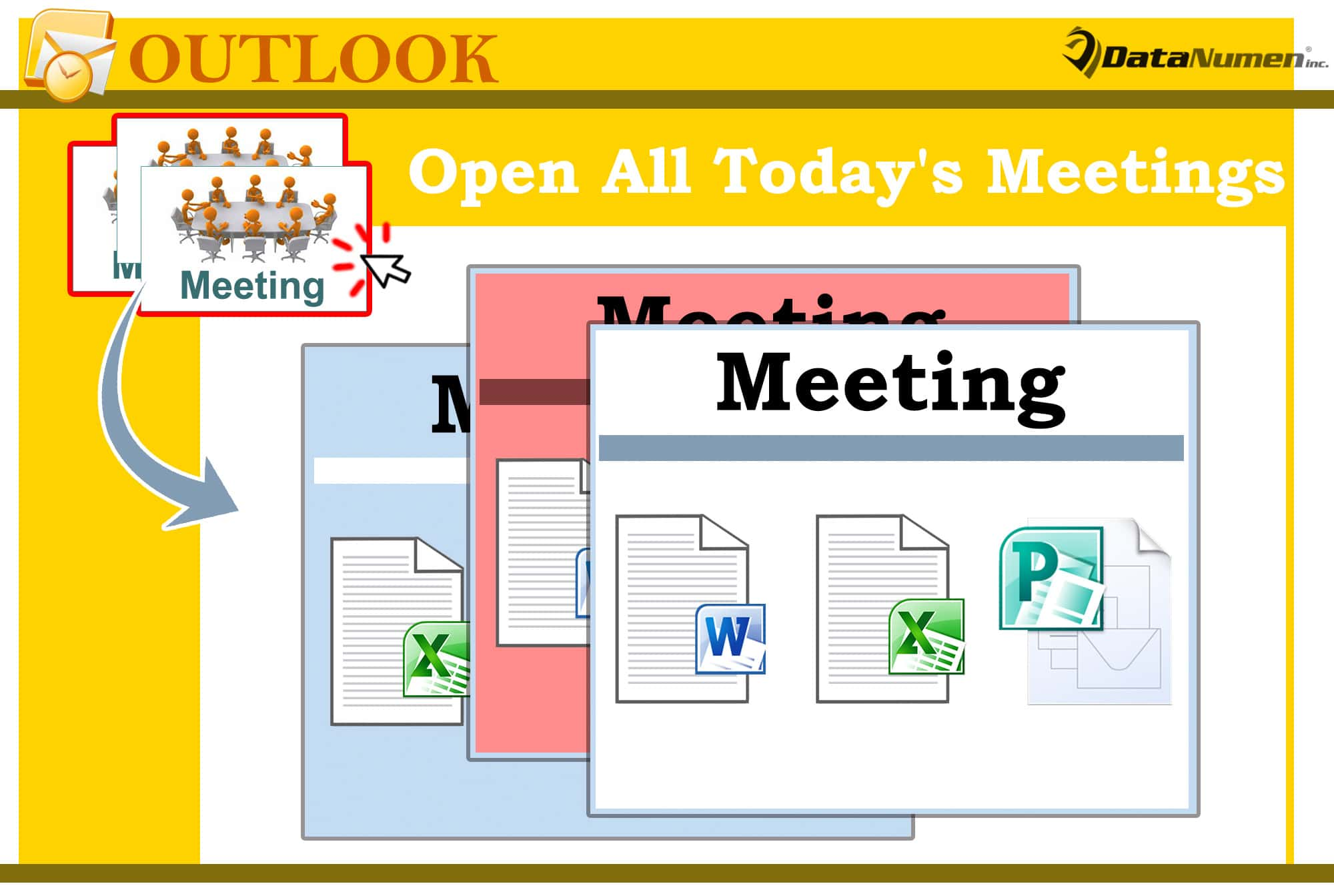 Batch Open All Today's Meetings in Your Outlook