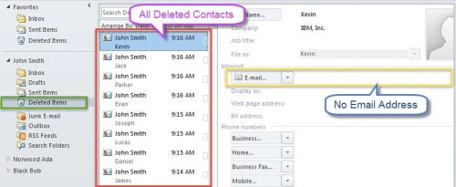 Deleted Contacts