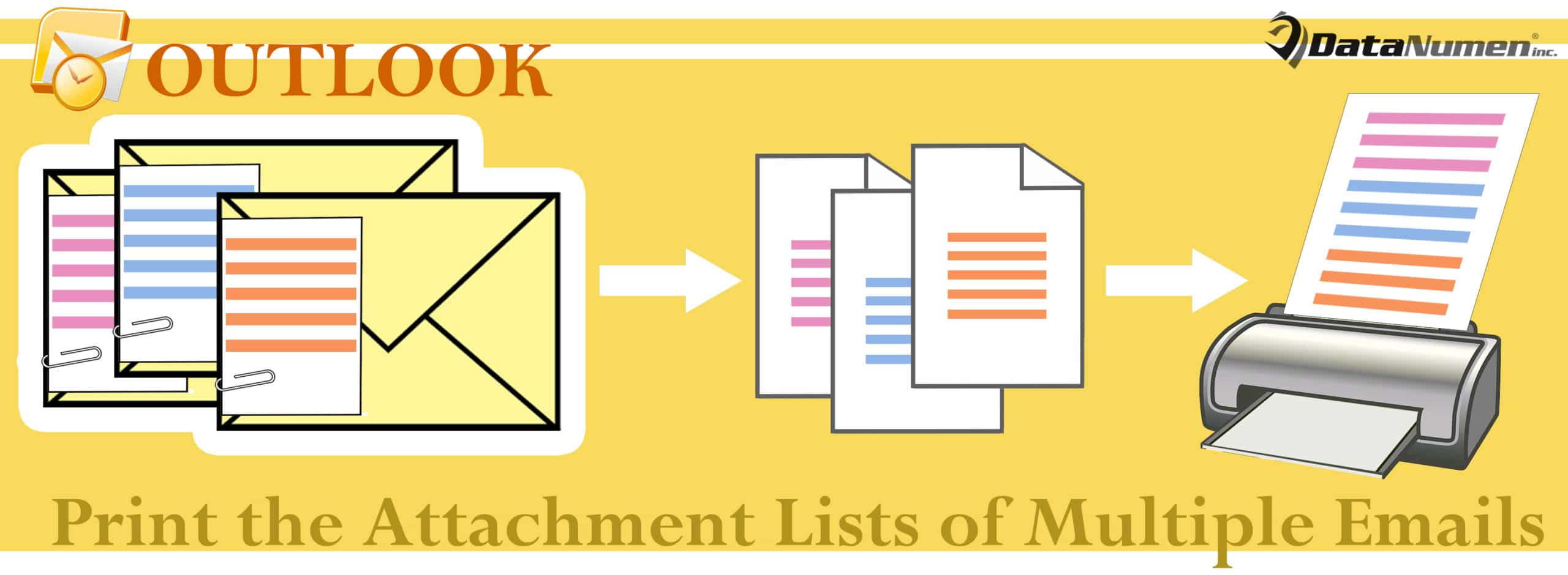 Print the Attachment Lists of Multiple Outlook Emails