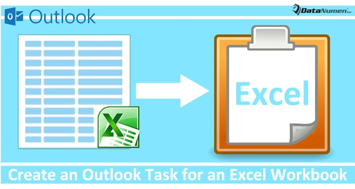 Quickly Create an Outlook Task for an Excel Workbook