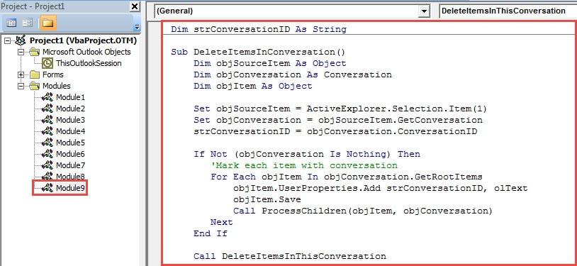 VBA Code - Put Code into a Module