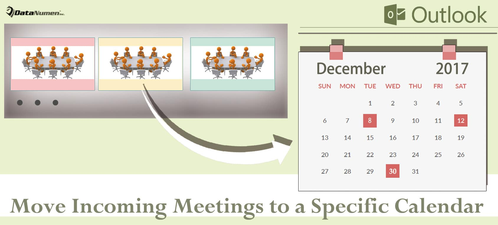 Auto Move Incoming Meetings to a Specific Outlook Calendar