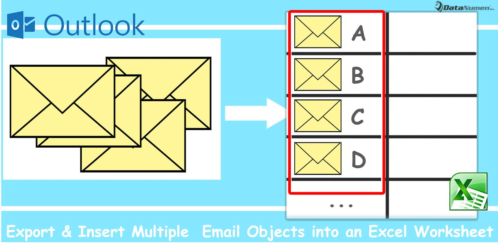 Batch Export & Insert Multiple Outlook Email Objects into an Excel Worksheet
