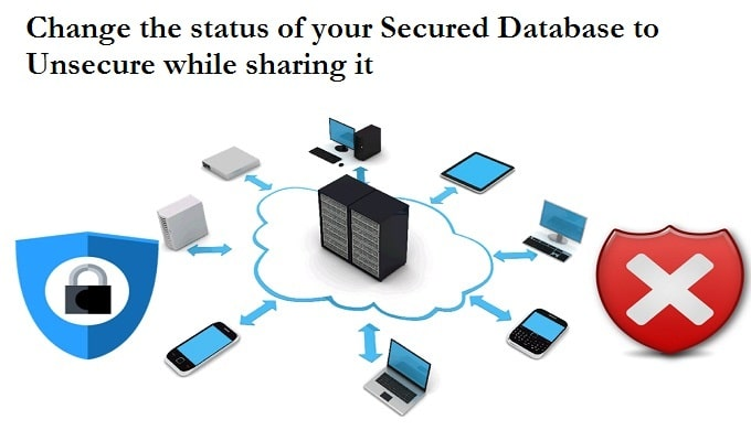 Change The Status Of Your Secured Database To Unsecure