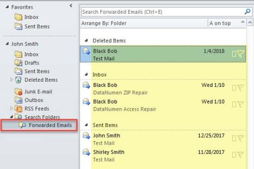 how to create folders in emails