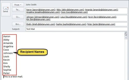 How to Quickly Insert Recipient Names to Email Body in Your